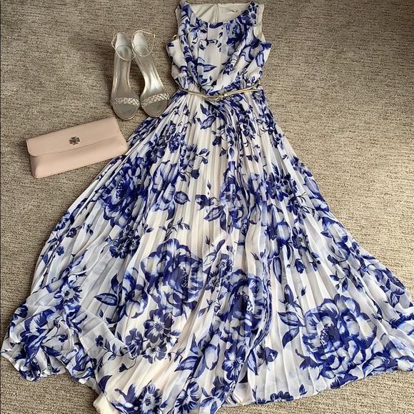 9774a5e2b5 Eliza J Dresses & Skirts - Eliza J Pleated Floral Chiffon Maxi Dress